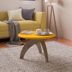 Mesa de Centro Jade Amarillo con Canela Ebani Colombia tienda online de decoración y mobiliario Bertolini