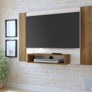 Panel o Mueble para Tv Cine Pantalla Hasta 42 Pino con Blanco