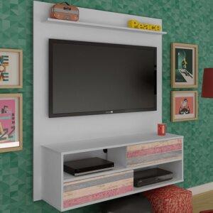 Panel o Mueble para Tv Dallas Para Pantalla Hasta 42 - Blanco con Antique Ebani Colombia tienda online de decoración y mobiliario Bertolini