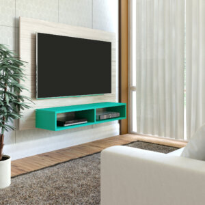 Panel o Mueble para Tv Flash Pantalla Hasta 42 Capuccino con Turquesa Ebani Colombia tienda online de decoración y mobiliario Bertolini