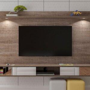Panel o Mueble para Tv Platinum Para Pantalla Hasta 55 Canela Ebani Colombia tienda online de decoración y mobiliario Bertolini