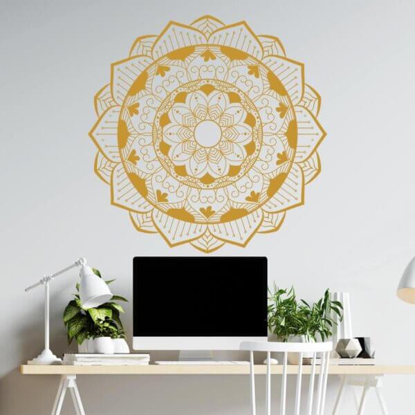 Vinilo Decorativo Golden Mandala