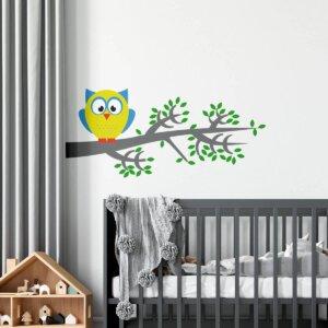 Vinilo Decorativo infantil Niña Bajo la Lluvia