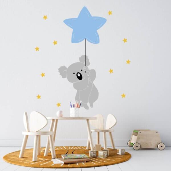 Vinilo Decorativo Infantil Koala Dreams