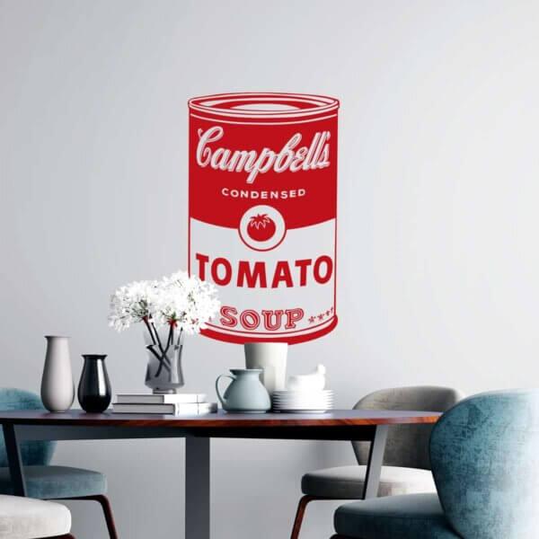 Vinilo Decorativo Pop Art Campbell's