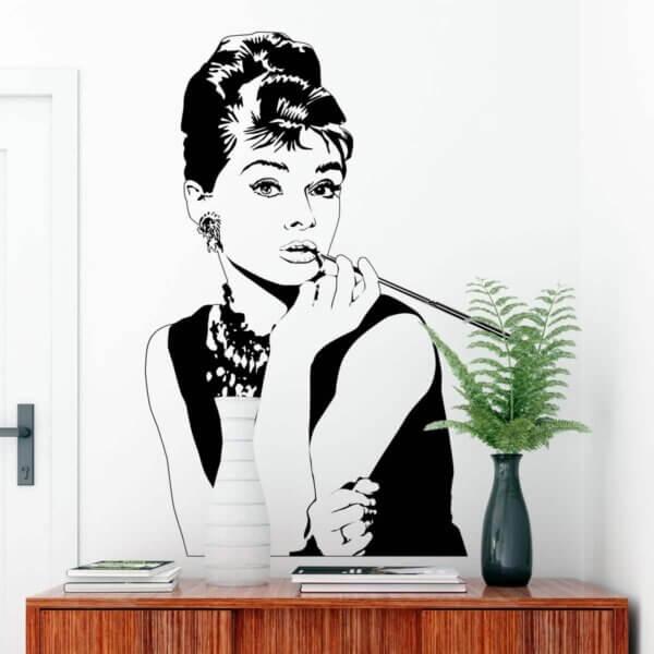Vinilo Decorativo de Audrey Hepburn