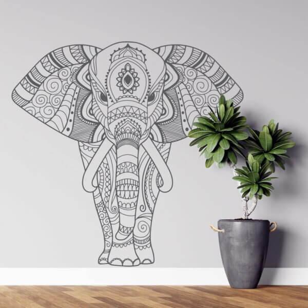 Vinilo Decorativo de Elefante