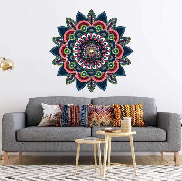Vinilo Decorativo de Mandala Multicolores