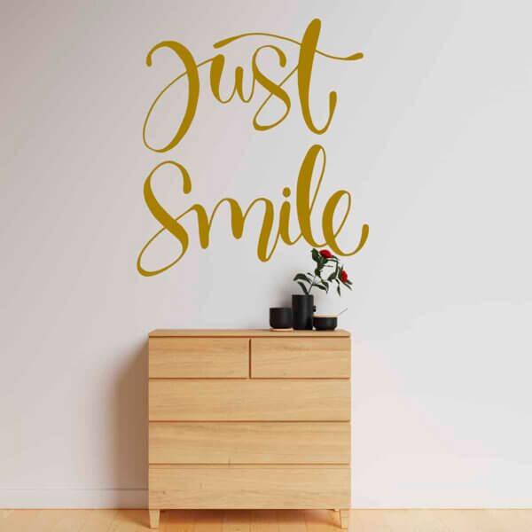 Vinilo Decorativo de Texto Just Smile
