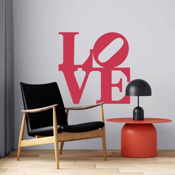 Vinilo Decorativo de Texto Love