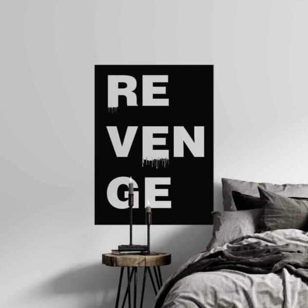Vinilo decorativo de Texto Revenge