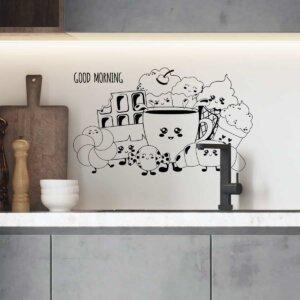 Vinilo de Texto para Cocinas Coffee house