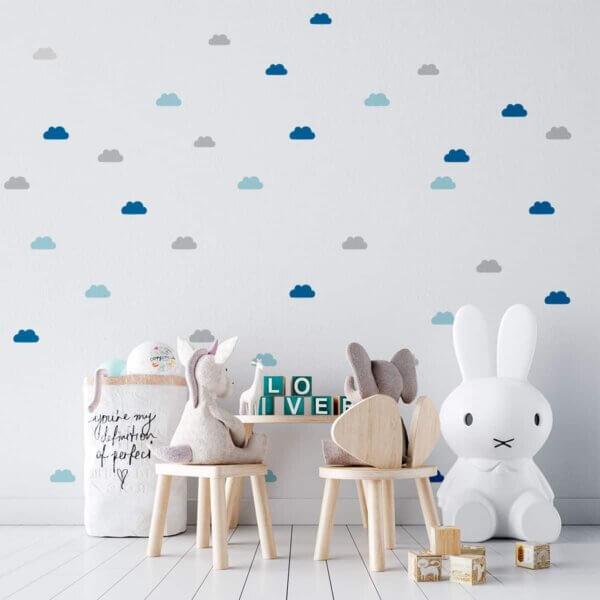 Vinilo Decorativo Infantil Patrón de Nubes