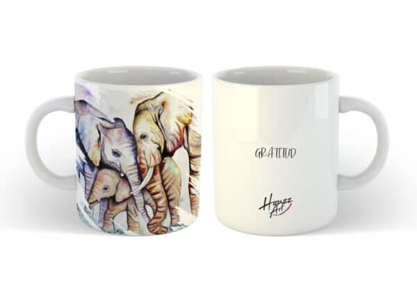 familia elefantes gratitud