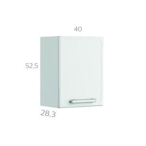 Alacena 40 cm Gourmet Blanco Ebani Colombia tienda online de decoración y mobiliario Bertolini