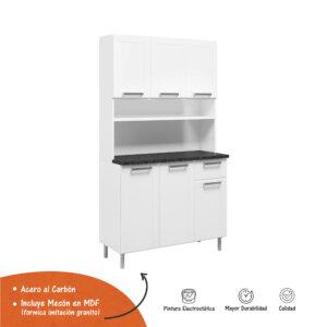 Alacena 6 Puertas 1 Cajones Multipla - Blanco Ebani Colombia tienda online de decoración y mobiliario Bertolini