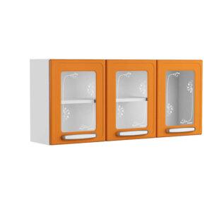 Alacena Con Vidrio 120 Cm Gourmet Anaranjado Ebani Colombia tienda online de decoración y mobiliario Bertolini