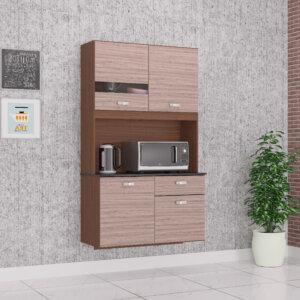 Alacena Mueble Auxiliar Cocina Lili 4 Puertas Capuchino Ebani Colombia tienda online de decoración y mobiliario Aki Voy