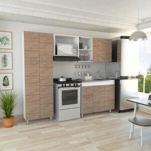 CLM3225 Cocina Ferreti (Mesón Derecho) MODIFICADA_Miel+blanco Ebani Colombia tienda online de decoración y mobiliario RTA