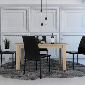 CLR 6137 - Mesa Comedor Portofino 160 + 4 Sillas (Rovere) Ebani Colombia tienda online de decoración y mobiliario RTA