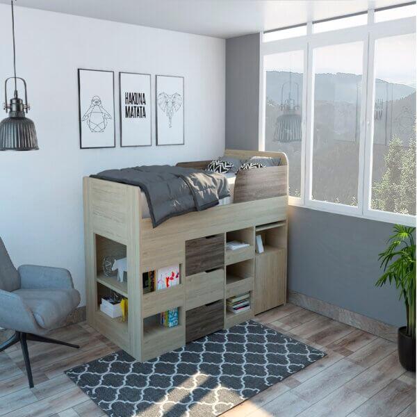 CRE 2612 Cama nido Infantil cerrada Ebani Colombia tienda online de decoración y mobiliario RTA