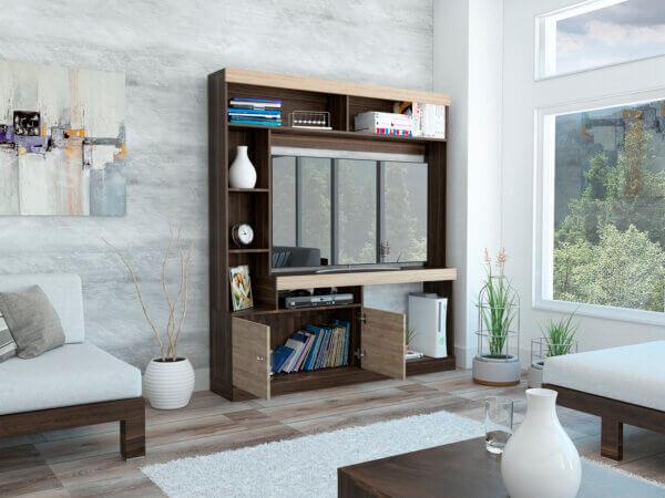 Centro de entretenimiento Dante habano-miel Ebani Colombia tienda online de decoración y mobiliario RTA