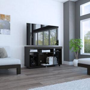 Centro de entretenimiento o mesa para Tv Vermon wengue Ebani Colombia tienda online de decoración y mobiliario Rta