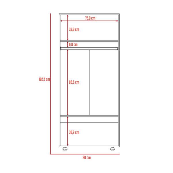 Closet hogar Economico rovere-blanco Ebani Colombia tienda online de decoración y mobiliario RTA