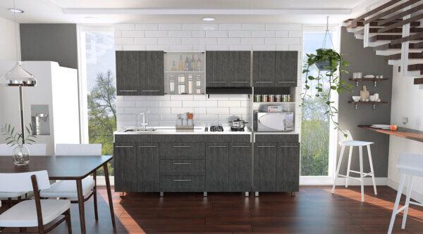 Cocina 1.80 Bari blanco-roble gris Ebani Colombia tienda online de decoración y mobiliario RTA