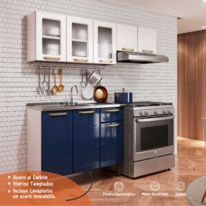 Cocina Integral Blue Navy Con Blanco Ebani Colombia tienda online de decoración y mobiliario Bertolini