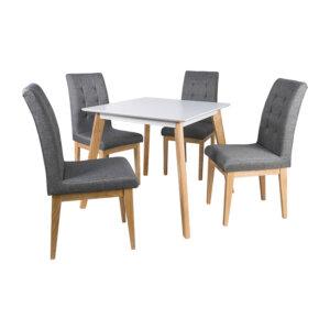 Comedor 4 Puestos Magna Gris Ebani Colombia tienda online de decoración y mobiliario Nihao