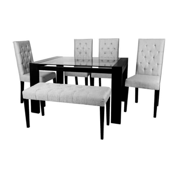 Comedor 6 Puesto Yuno Gris Ebani Colombia tienda online de decoración y mobiliario Nihao