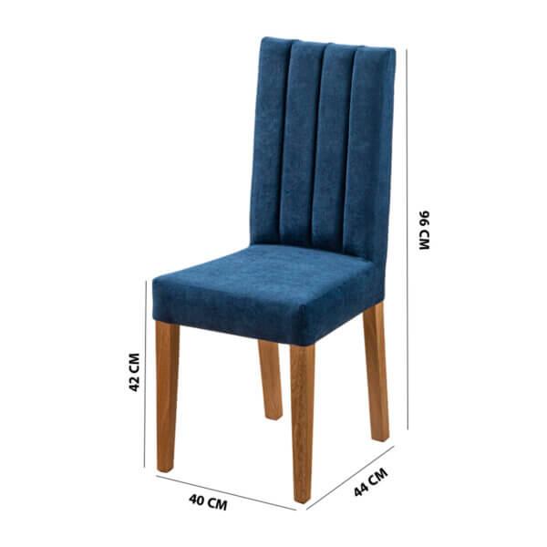 Comedor 6 Puestos Noelle Azul Ebani Colombia tienda online de decoración y mobiliario Nihao