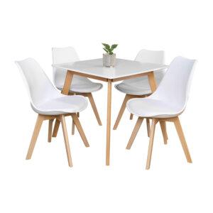 Comedor Lucian 4 Puestos Blanco Ebani Colombia tienda online de decoración y mobiliario Nihao
