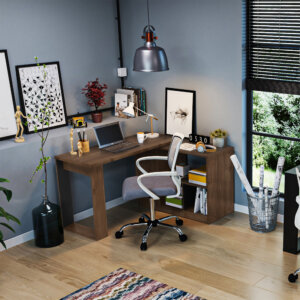 Escritorio moderno para pc o estudio quadratta Ebani Colombia tienda online de decoración y mobiliario Maderkit