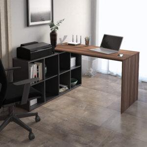 Escritorio para pc o Estudio Nero - Negro con Marron Ebani Colombia tienda online de decoración y mobiliario Bertolini