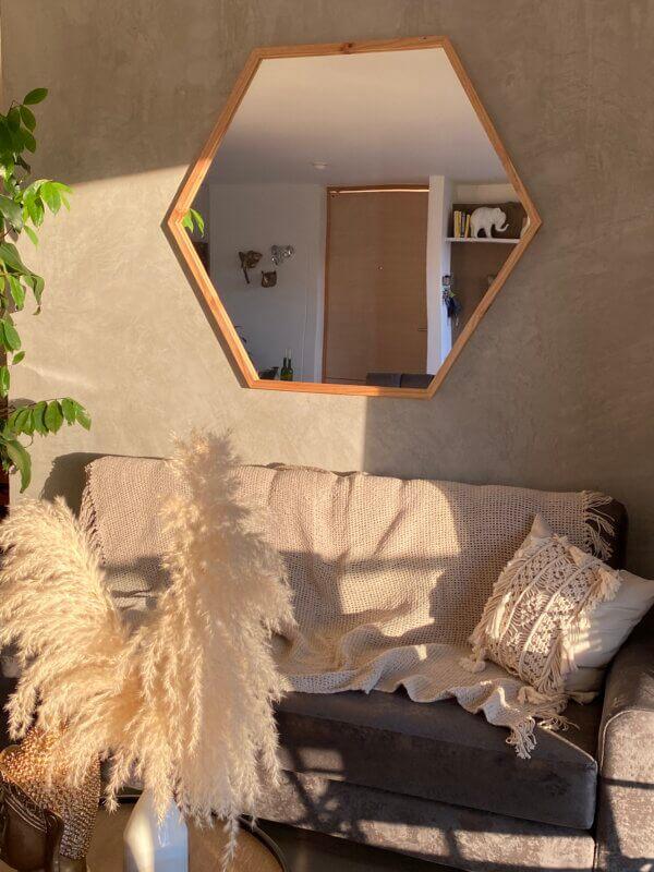 Espejo Decorativo hexágono Ebani Colombia tienda online de decoración y mobiliario Cozzy