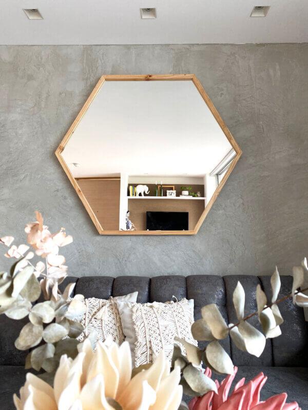 Espejo Decorativo hexágono