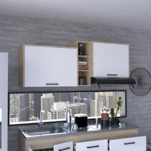MLR 6171 - Mueble Superior 150 Belmira (Rovere + Bl Nevado) Ambiente Abierta Ebani Colombia tienda online de decoración y mobiliario RTA