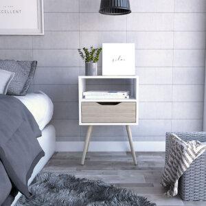 Mesa de noche o Nochero Othon blanco-rovere Ebani Colombia tienda online de decoración y mobiliario RTA
