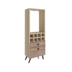 Mueble Bar Retro 2 Gavetas - Natural con Rústico Ebani Colombia tienda online de decoración y mobiliario Bertolini