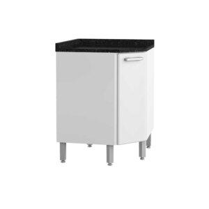 Mueble de Cocina con Lavaplatos y Cajón – Blanco