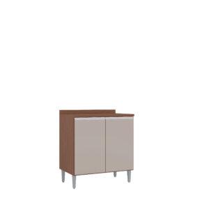 Mueble Inferior Cocina 2 Puertas 80 cm Capuchino Hueso Ebani Colombia tienda online de decoración y mobiliario Aki Voy