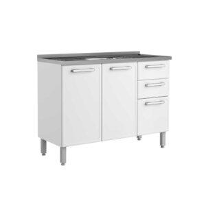 Mueble de Cocina Con Lavaplatos central 120 Cm Blanco Ebani Colombia tienda online de decoración y mobiliario Bertolini