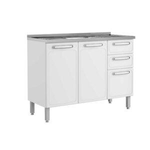 Mueble de Cocina con Lavaplatos 120 Cm Blanco Ebani Colombia tienda online de decoración y mobiliario Bertolini