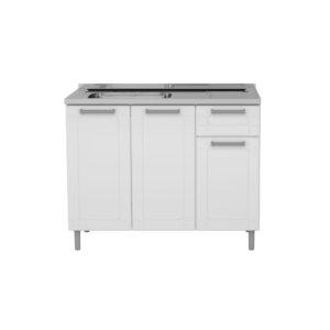 Mueble de Cocina con Lavaplatos y Cajón - Blanco Ebani Colombia tienda online de decoración y mobiliario Bertolini