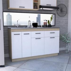 Mueble inferior 1.50 Belmira rovere-blanco Ebani Colombia tienda online de decoración y mobiliario RTA