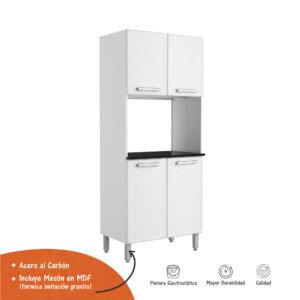 Mueble para microondas 80 cm Gourmet Blanco Ebani Colombia tienda online de decoración y mobiliario Bertolini