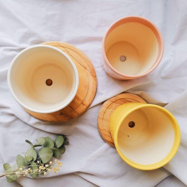 Matera de mesa en cerámica BOHO