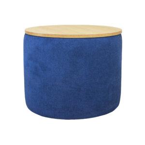 Puff Azul Ebani Colombia tienda online de decoración y mobiliario Nihao